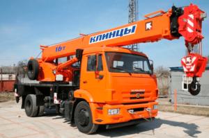 Аренда автокрана 16 тонн, стрела 18 м — «КАМАЗ» - №2